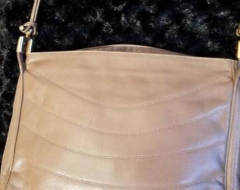Lou Taylor 1970s taupe shoulder bag SHIPS FREE