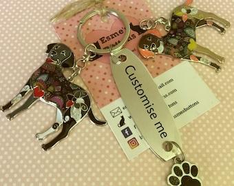 Personalised Labrador keyring, Labrador gift, Hand Stamped, Key Chain, Labrador keyring ,Dog Lover, dog gift, for her, for him