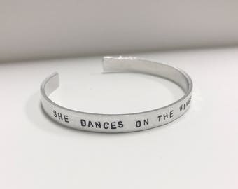 Personalized Metal Stamped Cuff (Aluminum)