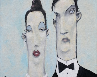 Happy Couple, pop surrealism, art, lowbrow, lowbrow art, married couple,