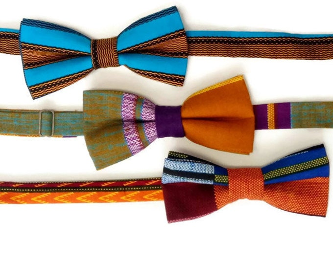 Three Bowties For The Price Of Two, Kente Dashiki Bowties For Friends And Family, Money Saver
