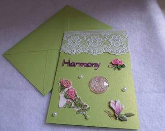 Green card, lace, harmony for various occasions