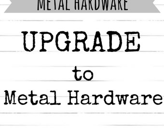 Upgrade to METAL HARDWARE for your Dog Collar Order