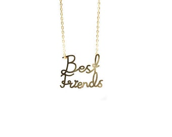 Gold Best Friends necklace