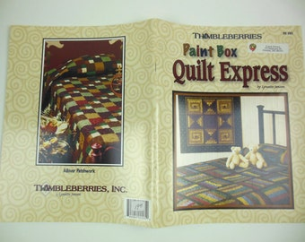 Paint Box Quilt Express Quilt Pattern Book, Thimbleberries Designs, Patchwork Patterns, Sewing, Lynette Jensen, Tree Skirt, Quilt Blocks,