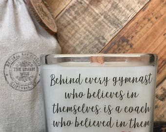 Gym Teacher Candle / Gymnast Coach Candle / Gymnastics Teacher Gift / Teacher Appreciation / Gifts For Teacher
