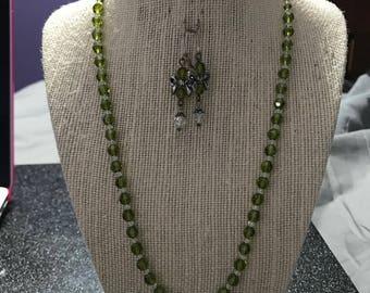 Full Crystal Necklace, Bracelet, and Earring Set