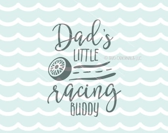 Little Racing Buddy SVG Coffee SVG Cricut Explore & More. Printable. Dad's Little Racing Buddy Tire Street Racer Race Baby  SVG