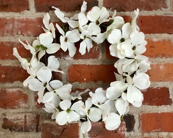 Spring Wreath, Grapevine Wreath, White Dogwood, Spring Wreaths for Front Door, Summer Wreath, 12 inch