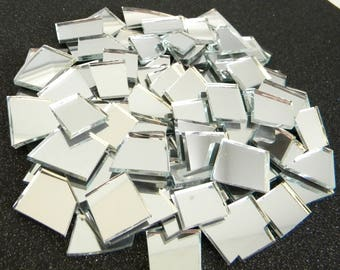SALE - Mosaic MIRROR Tiles/Shards - Various Shapes - 100 Tiles