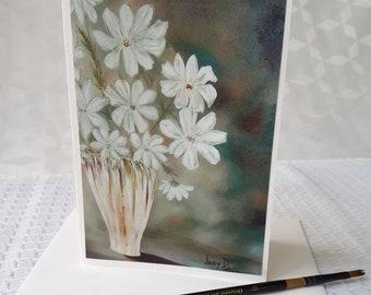 Carte de voeux/Carte remerciement/Anniversaire/Fête des mères/Pour elle/Retraite/Félicitations/Rétablissement/Fleurs - CC-LP-0010