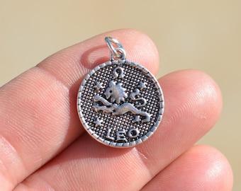 5  Leo Zodiac Silver Tone Charms SC2392