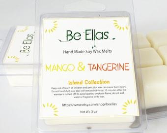 Mango Tangerine Soy Wax Melts, Mix and Match, Wax Tart Melts, Island Scent, Scented Wax Melts, Scented Wax Tarts, Soy Wax Melts, Gift Idea