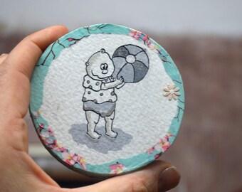 Kinderzimmer dekoration*Wally macht was Kinder machen*Wanddeko*Gemälde Kind*Wohnimmer Dekoration*Kinderzeichnung
