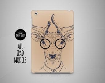 Deer Hipster iPad Case Animal iPad Mini Case iPad Air Case Tablet Case iPad 4 Case iPad Mini 4 Case iPad Air 2 Case iPad Mini 3 Case Deer