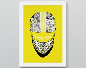 Yorkshire in Yellow - Screen print