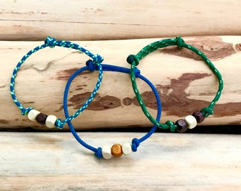 Climbing Rope Bracelet with Wooden Beads | Climbing Bracelet | Simple Men's/Women's Bracelet | Climbing Gift | Rope Bracelet | Outdoor Gift