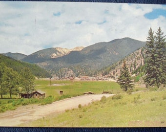 Red River Valley Famous Fishing Resort in Northern New Mexico 1960 Photo Postcard