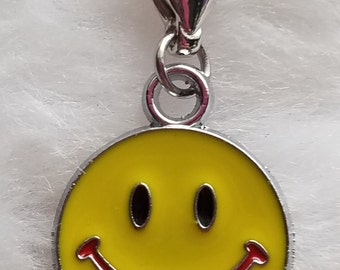 Smiley Face Charm - Clip-On - Ready to Wear