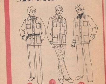 Men's Safari Jacket, Shirt-Jac Pattern McCalls 3437 Size 34 Uncut