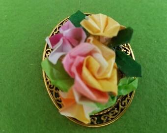 Floral brooch, floral jewellery, ooak brooch, ooak jewellery, vintage flower brooch, floral pin, vintage flower jewellery, ornate brooches,