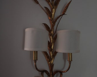 Gilt Wheat Sheaf Sconce