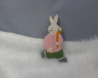 Easter Bunny hanging wooden Decoration
