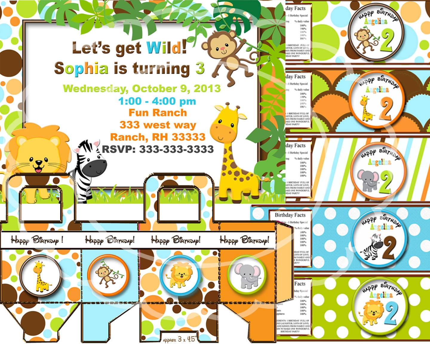 Safari birthday party jungle party zoo party animal party