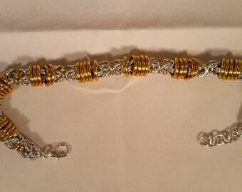 Byzantine Orbital Chainmaille Bracelet