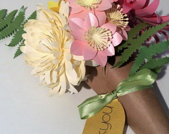 Pretty Summer Paper Flower Bouquet Thankyou Gift
