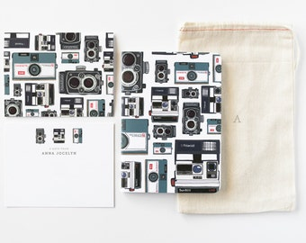 Personalized Stationery Set   Illustrated Camera Stationery Gift Set with Custom Flat Cards, Journal, and Notecards : Photographer
