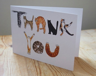 "Cats ""Thank you"" greeting card."