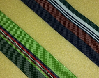 Vintage Striped Grosgrain Ribbon 2 yards
