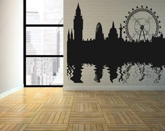 Wall Decal Sticker Bedroom london boy girl teenager teen kids room 137d