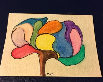 ACEO - Abstract Tree- Miniature Art