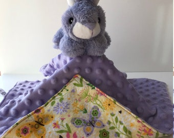 Ultra Plush and Cuddly Easter Bunny Lovey Blanket