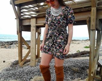 90s floral print dress, 90s dress, floral print dress, vintage 90s dress