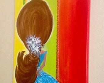 La Chica Bonita Hand Painted Canvas Wall Art By Janie