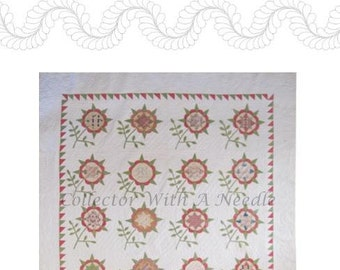 Harrison Rose Applique Quilt Pattern w/ Variations c.1850 Antique