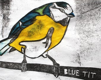 Blue Tit Card | Greetings Card | British Birds | Printed in the UK on Recycled Card | nature | wildlife | bird cards