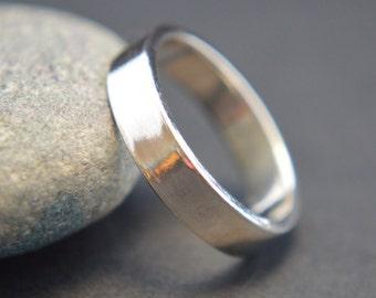 Sterling Silver Ring, Plain Band, 4mm Band, Thumb Ring, Wedding Band, 925 Sterling Silver