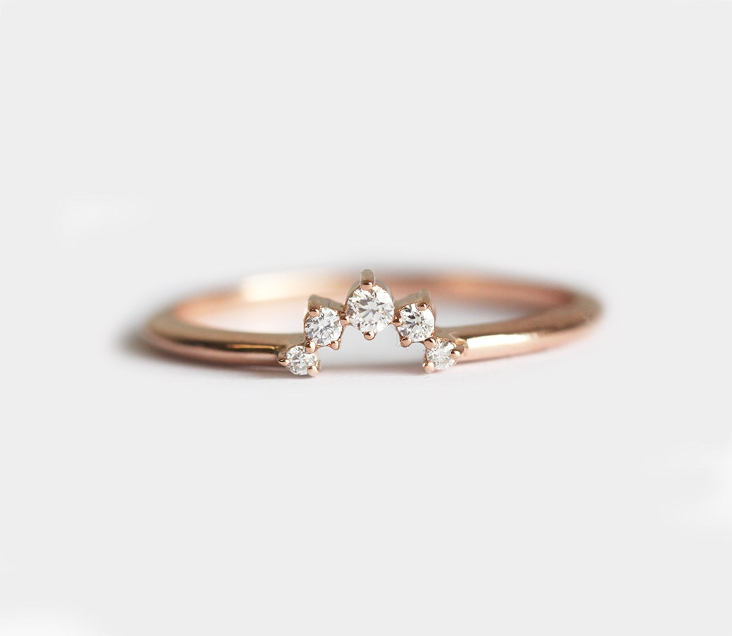 zoom - Crown Wedding Rings