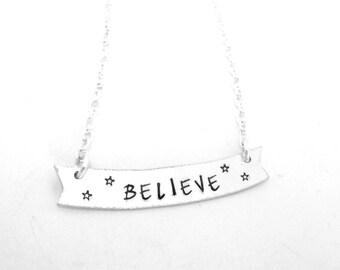 Believe Banner Necklace