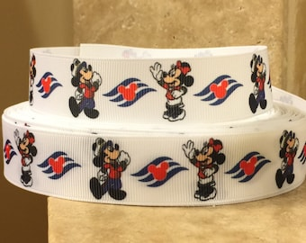 5 YDS Mickey Mouse Minnie Mouse Cruise Ribbon