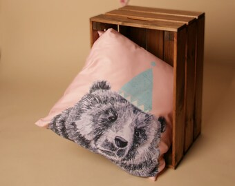 HMI Original Illustrated Bear Cushion