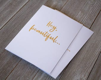 Hey beautiful Anniversary card | Wife Anniversary Card | Girlfriend Anniversary card