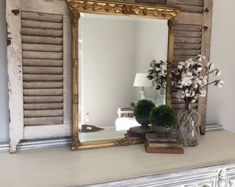 Vintage Mirror, Gold Mirror, French Mirror, Wall Hanging Mirror, Living  Room Decor