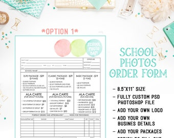 School - Preschool - Daycare Photography Order Form Template Available For Immediate Download As A Layered Photoshop PSD File - INF121BF