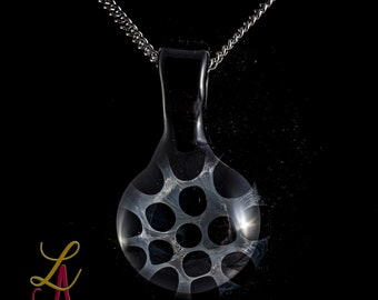 One of a kind Handcrafted Black Honeycomb Pendant