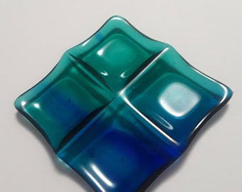 Fused Glass 4 Section Dish